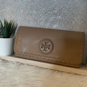 Tory Burch Tan Butter Soft Leather Wallet